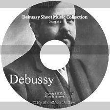 Massive Professional Claude Debussy Sheet Music Collection Archive Library DVD