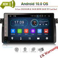 "9"" Bluetooth Sat Nav GPS Android 10 Autoradio BMW 3 Series E46 M3 Rover 75 MG ZT"