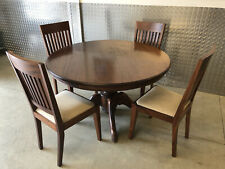 More details for  solid round mahogany dinning table & 4 chairs