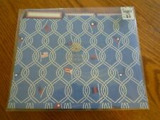 12 Anna Griffin Seafarer File Folders One Package Home Office Blue w/ Ropes Flag