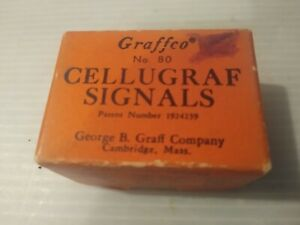 Vintage Graffco Cellugraf Signals Green, Yellow and Red in Original Box