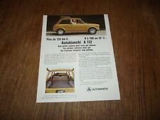 CATALOGUE AUTOBIANCHI A 112.