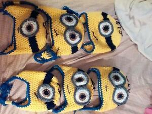 Wholesale crochet Minion hats 0-3 months to adults