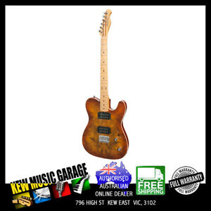 J&D LUTHIERS TE-STYLE ELECTRIC GUITAR HONEYBURST