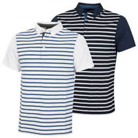 Wolsey Mens Stripe Front Stretch Technical Golf Polo Shirt 72% OFF RRP
