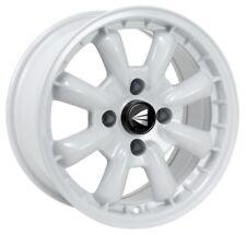 15x7 Enkei COMPE 4x114.3 +0 White Rims Fits Datsun 240z 260z 280z