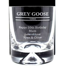 Personalised *GREY GOOSE VODKA* Dimple Glass Tumbler 60th/70th/Birthday/Dad/Gift