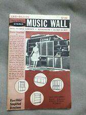 VTG Mid Century Build It Yourself Easi-Bild Pattern No.612 Music Wall 1966