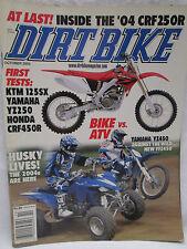 Dirt Bike Magazine Oct. 2003 Yamaha YZ450 Against The Wild New YFZ450