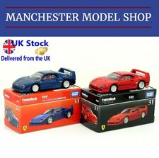Tomica Premium 31 Ferrari F40 set of 2 red & 1st edition blue VERY RARE UK STOCK