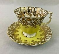 Royal Albert Tea Cup Saucer Cascade Series Yellow Gold Floral
