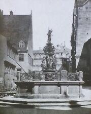 Virtue Fountain (Tugendbrunnen), Nuremberg, Germany, Magic Lantern Glass Slide