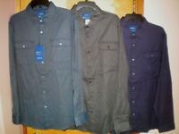 NWT NEW mens APT 9 slim fit stretch premier flex casual shirt $46 retail