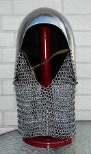 Beckenhaube mit Kettenbrünne Helm Rüstung Mittelalter LARP Reenactment