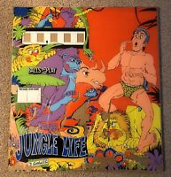 Vintage Gottlieb Jungle Life Pinball Machine Replacement Backglass RARE!