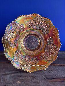 VINTAGE FENTON CARNIVAL GLASS MARIGOLD ORANGE TREE PLATE