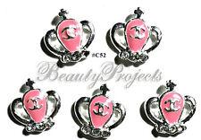 5pc Nail Art Charms 3D Nail Rhinestones Decoration Jewelry DIY Bling - C52