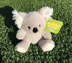 1X Australian Koala Bear Plush 11cm Grey&White Soft Stuffed Toy Fluffy Ears Baby
