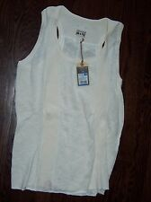 NWT CONVERSE cream colored large L LG One Star sleeveless sweater tank NEW!