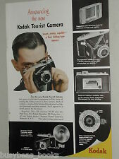 1948 KODAK Tourist Camera advertisement, small folding camera with detail photos