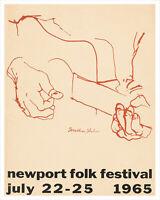 Newport Folk Festival 1965 concert poster print