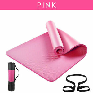 YOGA MAT SPORTS FOR PILATES YOGA GYM EXERCISE CARRY STRAP 10MM THICK LARGE YOGUA