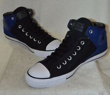 Converse Men's Chuck Taylor High Street Black/Blue Mid-Top Sneakers - Asst Sizes