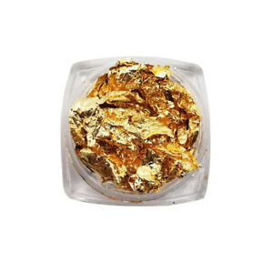 3D Gold Nail Art Aluminum Foil Paper Irregular Sticker Manicure Nail Décor 2PC