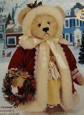 "New $135 1999 Franklin Mint Doll Mary Christmas Bear 14"" Nib Nrfb"