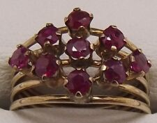 SOLID 14CT YELLOW GOLD NATURAL RUBY DRESS RING VALUED AT $2628