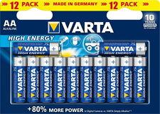 12 Varta 4906 High Energy AA / Mignon Alkaline Batterien im 12er Blister