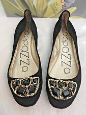 Apepazza Black Jeweled Ballet Flats - 10M