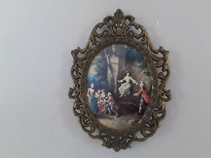 Small Wall Hanging Victorian Style Frame Picture Room Decor