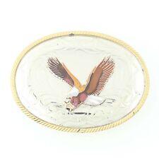 Aigle Boucle Ceinture - Émail 3D Western Style Vintage Grand Ovale 2-Toned