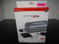 NEW! NINTENDO 3DS EXPLORER STARTER KIT 8 ITEMS EAR BUDS STYLUS MORE SILVER J-17