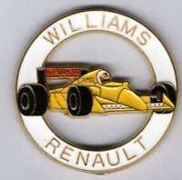 Pins Pin's lapel pin Williams Renault Canon Camel Rond Blanc F1 Jaune Signé