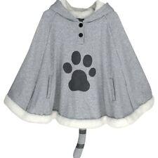 Neko Atsume Cat Cosplay Cloak Lolita Girls Hoodie With Tail Kawaii Coat Cape Top