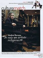 Coupure de presse Clipping 2011 Andres Serrano  (3 pages)