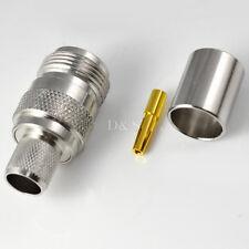 N Type Female Jack Straight Crimp RG8 RG214 RG213 LMR400 RF Connector Adapter