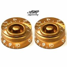 2 Boutons Speed Knobs Plexi fond Dores Graves Inch Size Gold style Gibson LP SG