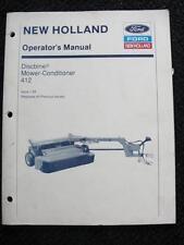 NEW HOLLAND 412 HAYBINE MOWER CONDITIONER OPERATORS MANUAL CLEAN