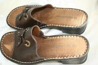 NATURALIZER Gelene Brown Leather Sandals Sz 6 M Slide Mule 777369 Womens Shoes