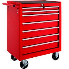 Carro de herramientas taller garaje mecánico cerradura con ruedas 7 cajones rojo