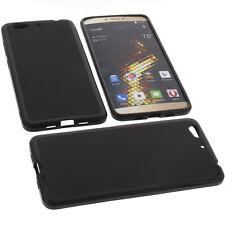 funda para Blu Vivo 5 Smartphone funda protectora de móvil TPU goma Funda  Negra