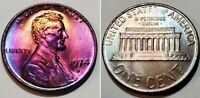 1974 D - DIE CLASH ERROR - ABSOLUTELY STUNNING - MONSTER TONED - CENT  #11021