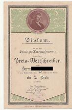 Diplom Urkunde Geising Stenographen Verein Gabelsberger um 1930 ! (D