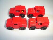 RED JEEPS 4X4 OFF-ROAD MODEL CARS SET 1991 1:87 H0 - KINDER SURPRISE MINIATURES