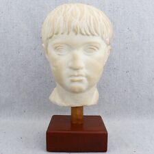 Vintage Museum Bust Greek Greco Roman Patrician Boy Young Male Sculpture 11.5""