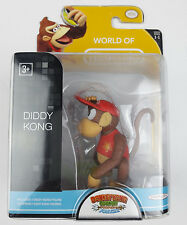 "World of Nintendo, Donkey Kong,  3"" Diddy Kong Figure Series 1-1 New DK"
