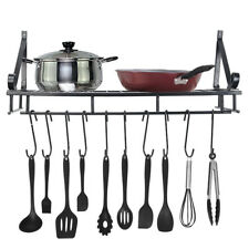 Pot and Pan Rack Organizer Hanger Storage Wall Holder Kitchen Cookware Hanging F